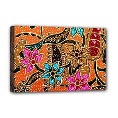 Colorful The Beautiful Of Art Indonesian Batik Pattern Deluxe Canvas 18  x 12