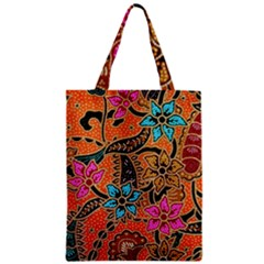 Colorful The Beautiful Of Art Indonesian Batik Pattern Zipper Classic Tote Bag