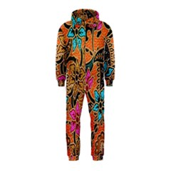 Colorful The Beautiful Of Art Indonesian Batik Pattern Hooded Jumpsuit (Kids)