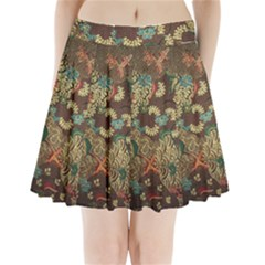 Colorful The Beautiful Of Art Indonesian Batik Pattern Pleated Mini Skirt