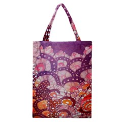 Colorful Art Traditional Batik Pattern Classic Tote Bag