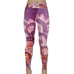 Colorful Art Traditional Batik Pattern Classic Yoga Leggings