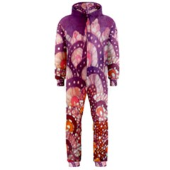 Colorful Art Traditional Batik Pattern Hooded Jumpsuit (Men)