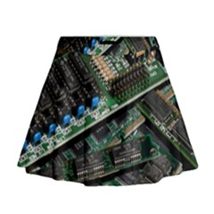 Computer Ram Tech Mini Flare Skirt