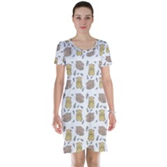 Cute Hamster Pattern Short Sleeve Nightdress