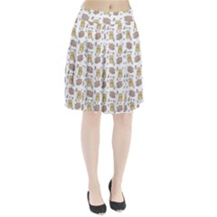 Cute Hamster Pattern Pleated Skirt