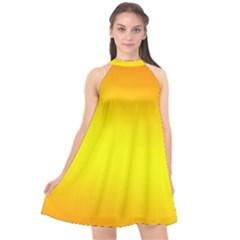 Halter Neckline Chiffon Dress