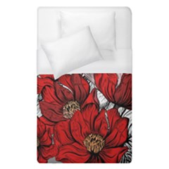 Red Flowers Pattern Duvet Cover (single Size)