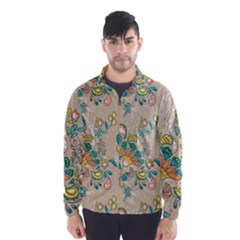 Hand Drawn Batik Floral Pattern Wind Breaker (men)