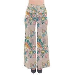 Hand Drawn Batik Floral Pattern Pants