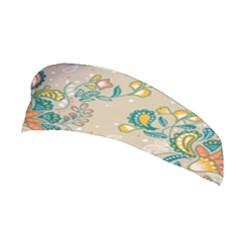 Hand Drawn Batik Floral Pattern Stretchable Headband