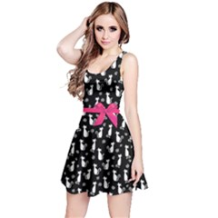 Dark Cat Pink Ribbon Pet Reversible Sleeveless Dress