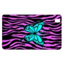 Zebra Stripes Black Pink   Butterfly Turquoise Samsung Galaxy Tab Pro 8.4 Hardshell Case View1