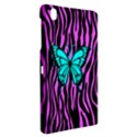 Zebra Stripes Black Pink   Butterfly Turquoise Samsung Galaxy Tab Pro 8.4 Hardshell Case View2