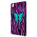 Zebra Stripes Black Pink   Butterfly Turquoise Samsung Galaxy Tab Pro 8.4 Hardshell Case View3