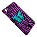 Zebra Stripes Black Pink   Butterfly Turquoise Samsung Galaxy Tab Pro 8.4 Hardshell Case View4