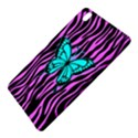 Zebra Stripes Black Pink   Butterfly Turquoise Samsung Galaxy Tab Pro 8.4 Hardshell Case View5