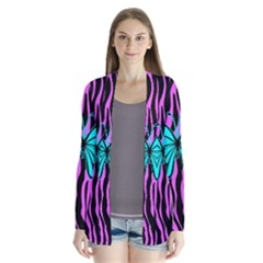 Zebra Stripes Black Pink   Butterfly Turquoise Cardigans