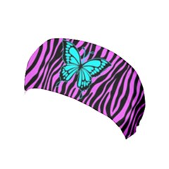 Zebra Stripes Black Pink   Butterfly Turquoise Yoga Headband