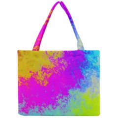 Grunge Radial Gradients Red Yellow Pink Cyan Green Mini Tote Bag