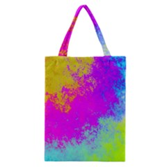 Grunge Radial Gradients Red Yellow Pink Cyan Green Classic Tote Bag