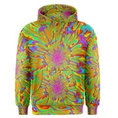 Magic Ripples Flower Power Mandala Neon Colored Men s Pullover Hoodie