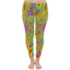 Magic Ripples Flower Power Mandala Neon Colored Classic Winter Leggings