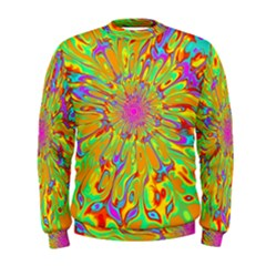 Magic Ripples Flower Power Mandala Neon Colored Men s Sweatshirt