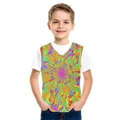 Magic Ripples Flower Power Mandala Neon Colored Kids  Sportswear