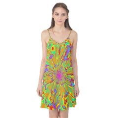 Magic Ripples Flower Power Mandala Neon Colored Camis Nightgown
