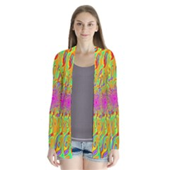 Magic Ripples Flower Power Mandala Neon Colored Cardigans