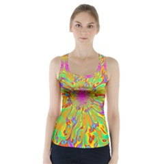 Magic Ripples Flower Power Mandala Neon Colored Racer Back Sports Top