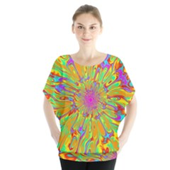 Magic Ripples Flower Power Mandala Neon Colored Blouse