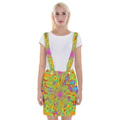 Magic Ripples Flower Power Mandala Neon Colored Braces Suspender Skirt