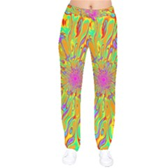 Magic Ripples Flower Power Mandala Neon Colored Drawstring Pants