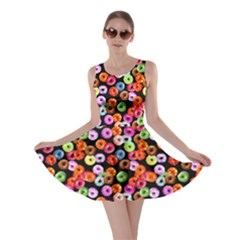 Colorful Yummy Donuts Pattern Skater Dress