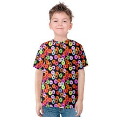 Colorful Yummy Donuts Pattern Kids  Cotton Tee