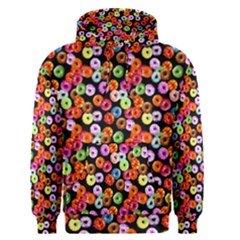 Colorful Yummy Donuts Pattern Men s Pullover Hoodie