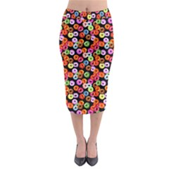 Colorful Yummy Donuts Pattern Midi Pencil Skirt