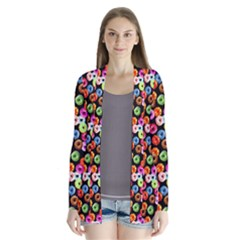 Colorful Yummy Donuts Pattern Cardigans