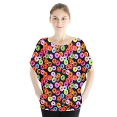 Colorful Yummy Donuts Pattern Blouse