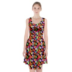 Colorful Yummy Donuts Pattern Racerback Midi Dress
