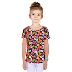 Colorful Yummy Donuts Pattern Kids  One Piece Tee