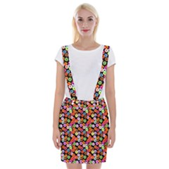 Colorful Yummy Donuts Pattern Braces Suspender Skirt