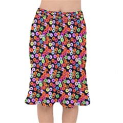 Colorful Yummy Donuts Pattern Mermaid Skirt
