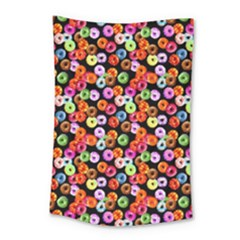 Colorful Yummy Donuts Pattern Small Tapestry