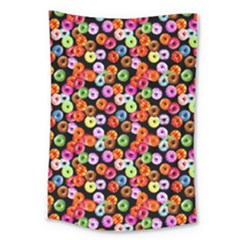 Colorful Yummy Donuts Pattern Large Tapestry