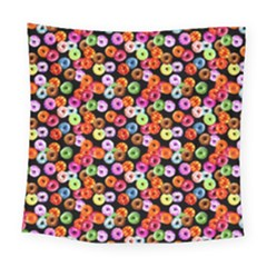 Colorful Yummy Donuts Pattern Square Tapestry (large)