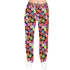 Colorful Yummy Donuts Pattern Drawstring Pants