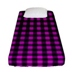 Lumberjack Fabric Pattern Pink Black Fitted Sheet (Single Size)